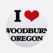 I love Woodburn Oregon Ornament (Round)