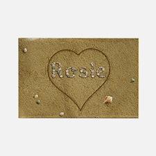 Rosie Beach Love Rectangle Magnet