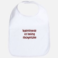 happiness is being Mckenzie Bib