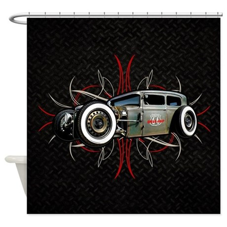 Pinstripe RAT Shower Curtain