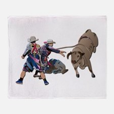 Clowns and Bull-2 without Text Throw Blanket