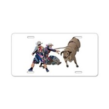 Clowns and Bull-2 without T Aluminum License Plate