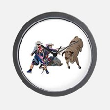 Clowns and Bull-2 without Text Wall Clock