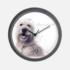 Home is where the dog is Wall Clock