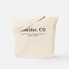 Boulder, CO Tote Bag