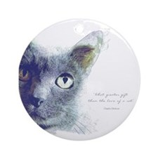 What greater gift than the love of a cat Ornament