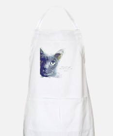 What greater gift than the love of a cat Apron