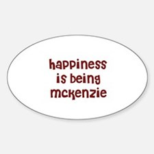 happiness is being Mckenzie Oval Decal
