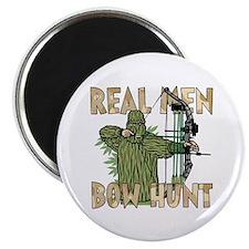 Real Men Bow Hunt Magnets