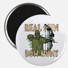 Real Men Bow Hunt Magnets