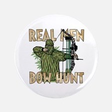 "Real Men Bow Hunt 3.5"" Button"