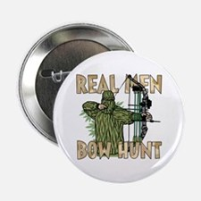 """Real Men Bow Hunt 2.25"""" Button"""
