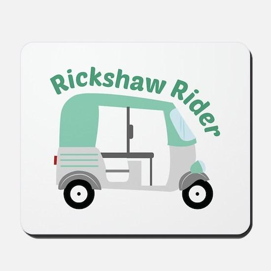 Rickshaw Rider Mousepad