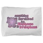 Irrelephant Elephant Pillow Sham