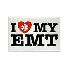 I Love My EMT Rectangle Magnet