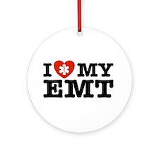 I Love My EMT Ornament (Round)