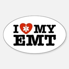 I Love My EMT Oval Decal