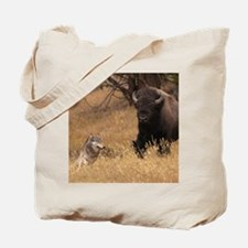 Bull Bison & Wolf Tote Bag