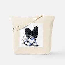 B/W Papillon Tote Bag