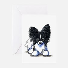B/W Papillon Greeting Cards (Pk of 20)