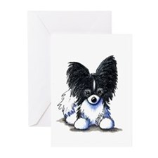 B/W Papillon Greeting Cards (Pk of 10)
