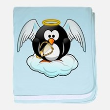 Angel Penguin baby blanket