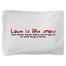 lovesnowblack.png Pillow Sham