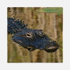 Alligator Swimming Queen Duvet