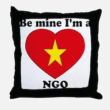 Ngo, Valentine's Day Throw Pillow