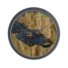 Alligator Swimming Wall Clock