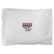 shoot like a girl2.png Pillow Sham