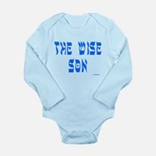 Wise Son Passover Long Sleeve Infant Body Suit