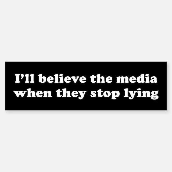 Lying media Bumper Bumper Bumper Sticker