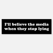 Lying media Bumper Car Car Sticker