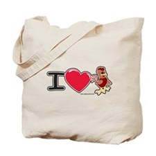 I Love Rooster Tote Bag
