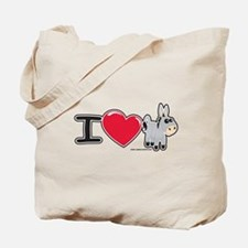 I Love Donkey Tote Bag