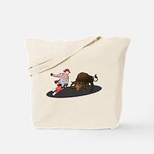 Clown and Bull 1-No-Text Tote Bag