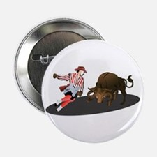 """Clown and Bull 1-No-Text 2.25"""" Button"""