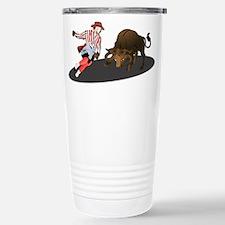 Clown and Bull 1-No-Tex Travel Mug