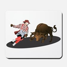 Clown and Bull 1-No-Text Mousepad