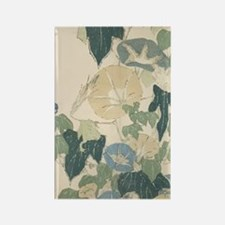 Morning Glories by Hokusai Rectangle Magnet