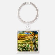 Field of Lilies Square Keychain