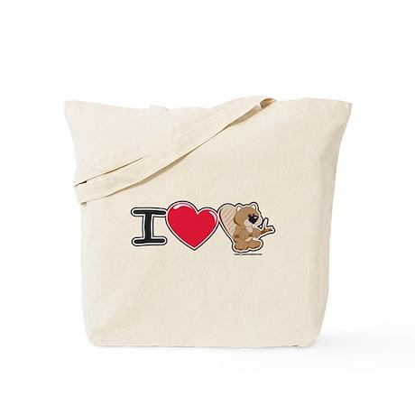 I Love Beaver Tote Bag