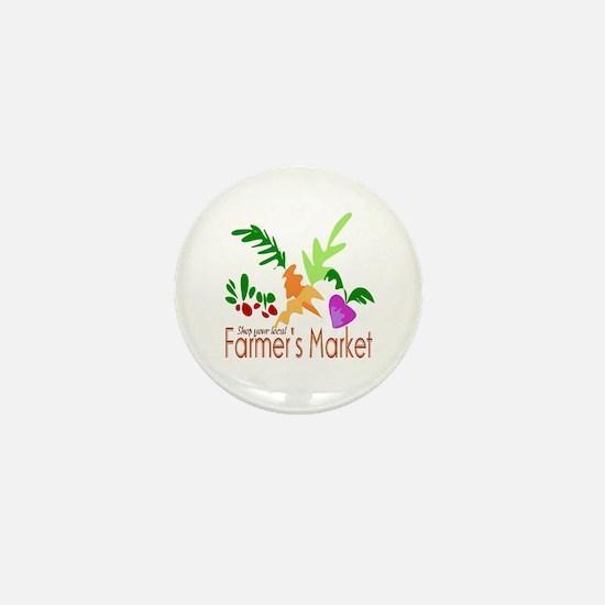 Farmer's Market Mini Button