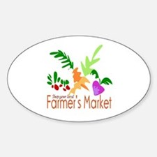 Farmer's Market Oval Decal