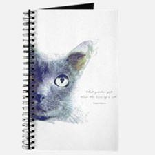 What greater gift than the love of a cat Journal