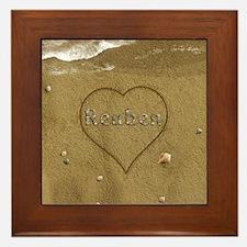 Reuben Beach Love Framed Tile
