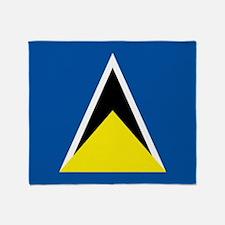 Saint Lucia flag Throw Blanket
