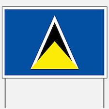 Saint Lucia flag Yard Sign