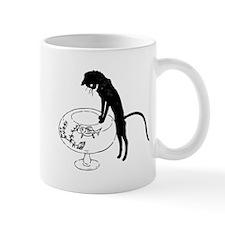 Cat Peering into Fishbowl Mug